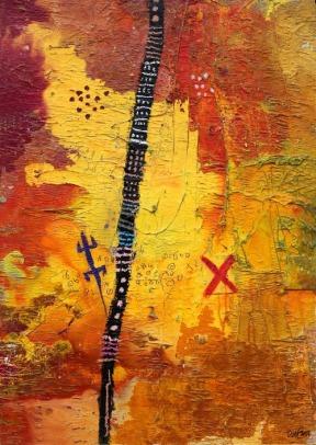 """Untitled"", Tchif. Calería Omenka, en Art Dubai."